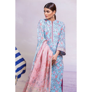 3 Piece Printed Suit with Broshia Dupatta sheikhnstyle