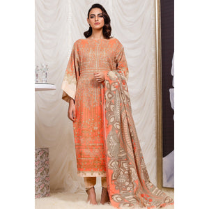 3 Piece Printed Suit with Doria Dupatta sheikhnstyle