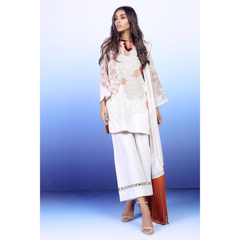 3 Piece Printed Suit with Lawn Dupatta sheikhnstyle