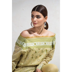3 Piece Printed Suit with Printed Chiffon Dupatta sheikhnstyle