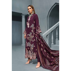 Dark Purple 3 PC AY-06 sheikhnstyle