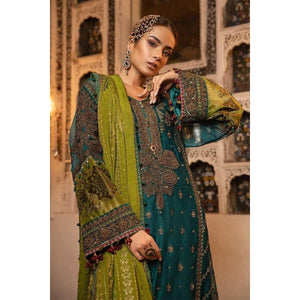 MBROIDERED - Teal, Green & Deep Ruby sheikhnstyle