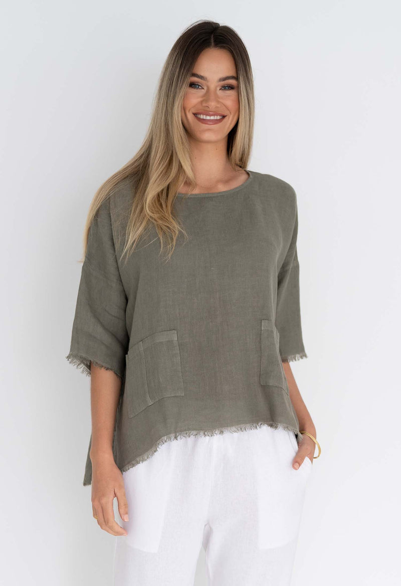 TALA LINEN TOP - SAMPLE