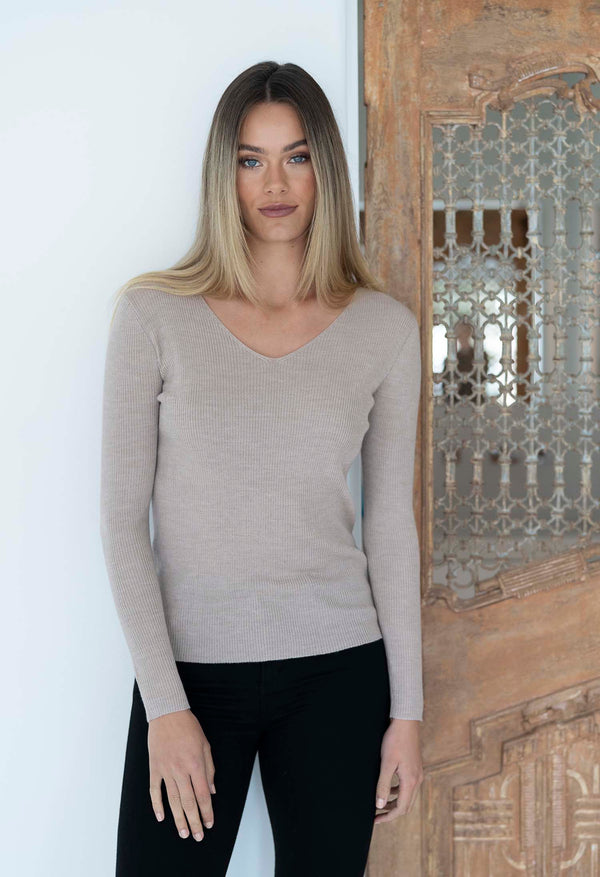MERINO V NECK BASIC