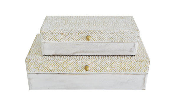 EMBOSSED JEWEL BOX SET OF 2