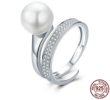 Load image into Gallery viewer, Silver Elegant Round Geometric Finger Rings