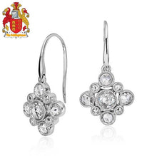 Load image into Gallery viewer, 18k White Gold Diamond Women Dangle Earrings