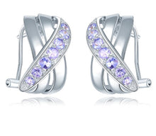 Load image into Gallery viewer, Natural Tanzanite Stud Earrings