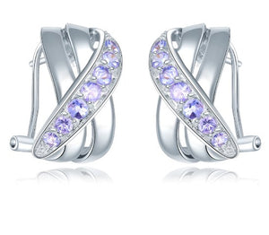 Natural Tanzanite Stud Earrings