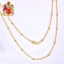 Load image into Gallery viewer, Ladies 18kt Yellow Gold Balls Chain Length Wholesales Exquisite Design