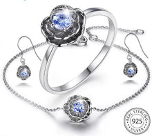 Load image into Gallery viewer, 925 Silver Jewelry Sets 0.2ct Natural Tanzanite Stone