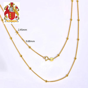 Ladies 18kt Yellow Gold Balls Chain Length Wholesales Exquisite Design