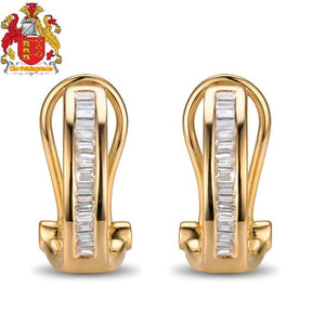 Beautiful 14K Yellow Gold & 0.31ct Diamond Engagement Earrings