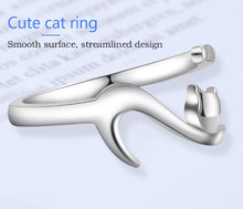 Load image into Gallery viewer, Fashion Cute Romantic Silver Sticky Cat Rings