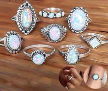 Load image into Gallery viewer, New Design Handmade Vintage Opal Knuckle Rings Set 8 PCS/Set