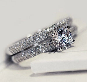 Women Wedding Ring Set