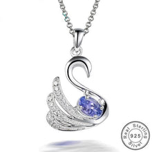 Load image into Gallery viewer, Natural 0.2ct Blue Tanzanite Stone Swan Pendants