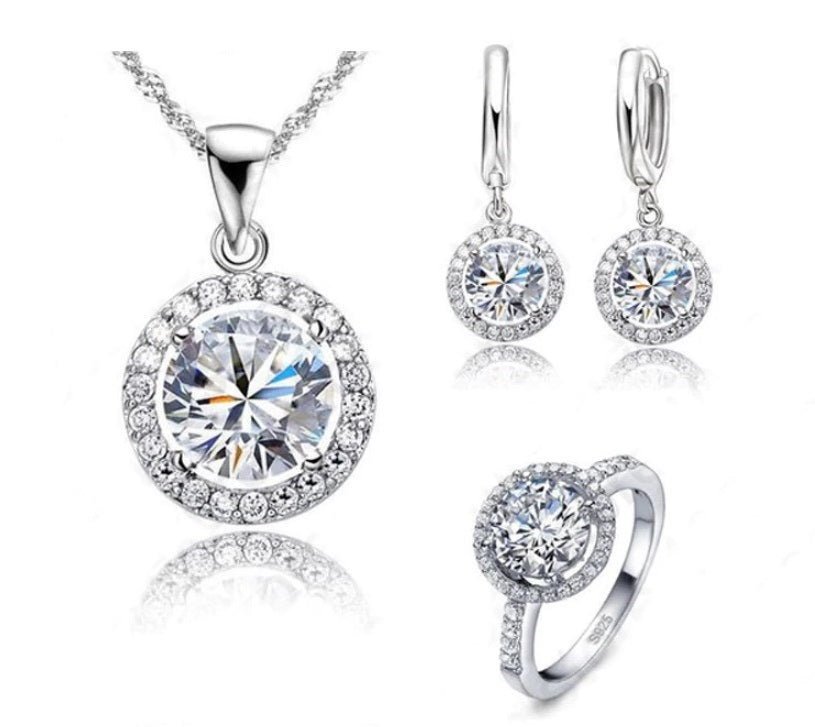 Luxury Women Wedding&Anniversary Jewelry Set
