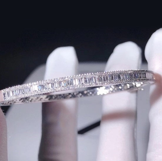 Diamond  10K White Gold Bracelet