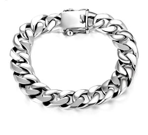 Luxury 925 Sterling Silver Bracelet Men
