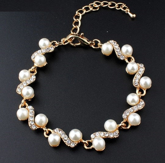 Popular ornaments white pearl bracelet