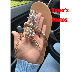 Rhinestones Woman Sandals 2019