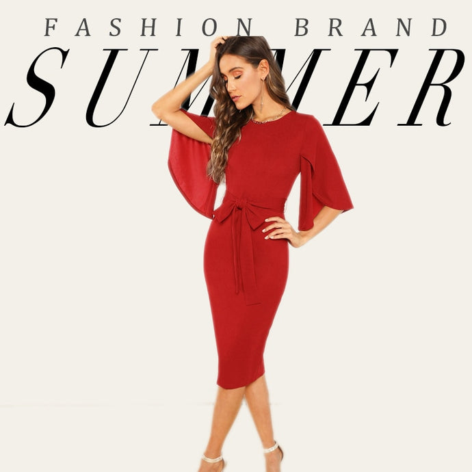 Red Elegant Dress Women 2019 - LIMITED EDITION