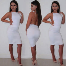 Load image into Gallery viewer, Women's Backless Clubwear Bodycon Mini Dress
