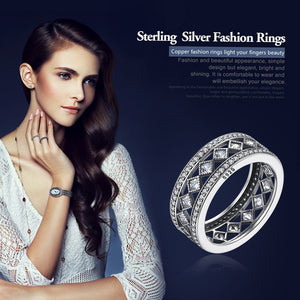 Square Vintage Fascination Ring