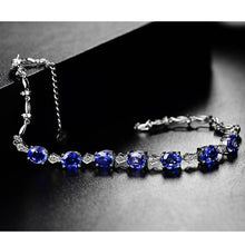Load image into Gallery viewer, Luxury Design 5.8ct Natural Tanzanite  18Kt White Gold Diamond Wedding Bracelet