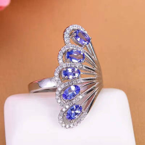 2017 New Fashion Silver Tanzanite Ring