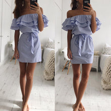 Load image into Gallery viewer, Lossky Women Dresses Striped Summer 2019