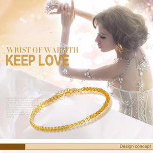 18k Pure Gold Women Bracelet