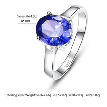 Load image into Gallery viewer, Promotion Wedding Fashion 4.3carats Blue Topaz Rings