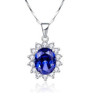 Luxury Jewelry Sets Shiny CZ Blue Tanzanite