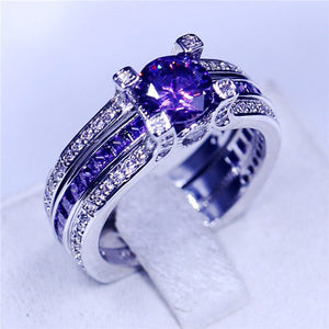 12 colors wedding band rings