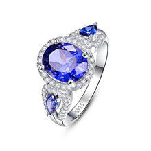 Load image into Gallery viewer, Luxury Wedding Tanzanite Ring - Unique Design
