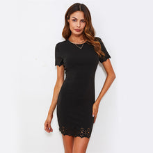 Load image into Gallery viewer, Laser Cut Bodycon Club Sexy Dress Women 2019