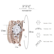 Load image into Gallery viewer, CCQ Brand Fashion Women Dress Handmade Bracelet Watch Luxury