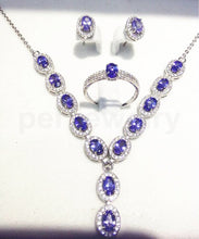 Load image into Gallery viewer, Natural tanzanite set 925 silver