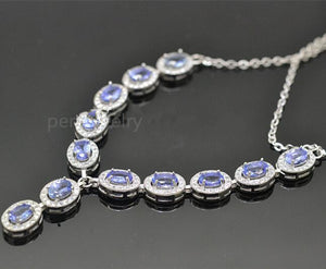 Natural tanzanite set 925 silver