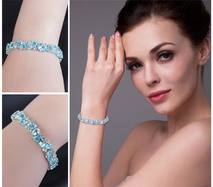 Luxury 23ct Multi London Blue Bracelet