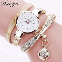 Load image into Gallery viewer, Duoya Brand Bracelet Watches For Women Luxury Gold Crystal