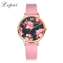 Load image into Gallery viewer, Women Bracelet Rose Gold Flowers Watch