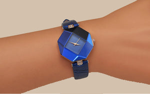 Women Watches Gem Cut Geometry