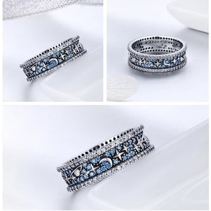 Sparkling Star Sky Wedding Cocktail Rings
