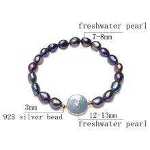 Load image into Gallery viewer, Natural Black Baroque Pearl Bracelet