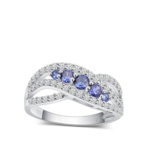 Classic Fashion Silver Tanzanite Engagement Rings - Best-selling Rings