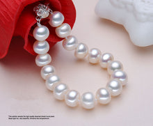 Load image into Gallery viewer, High quality Silver pearl bracelet