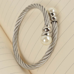 New Cable Bangles Gold Bracelet